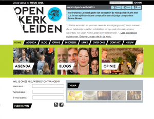 screenshot Open Kerk Leiden