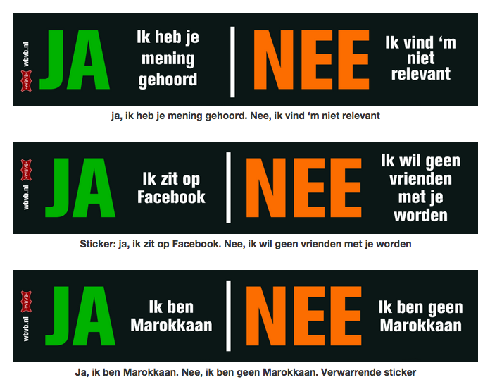 Ja / nee stickers